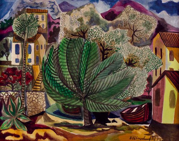 Uma das obras que serão expostas na Trajetória. Di CavalcantiPaisagem, 1959