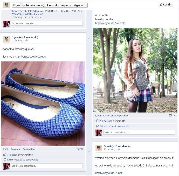 Fan Page Enjoei (e tô vendendo). Foto: Divulgação