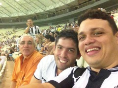 Ricardo Ribeiro no Castelão. Foto: Arquivo pessoal