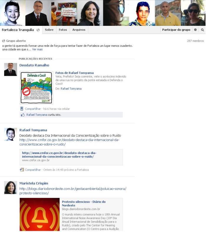 Grupo no Facebook.