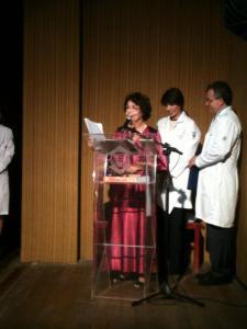 Doutora Rouquayrol em seu discurso. Foto: Juliana Teófilo