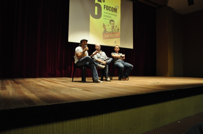 Da esquerda pra direita: Halder Gomes, Glauber Filho e Edimilson Filho. Foto: Daniel Brainer