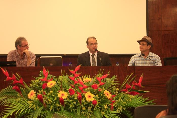 Pablo Manyé, Sidney Guerra e Carlos Macêdo. Foto: Thiago Gadelha