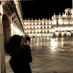 Lorena Cardoso em Salamanca. Foto: Arquivo pessoal